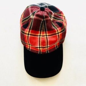 Tartan Ball Cap with Velvet Visor